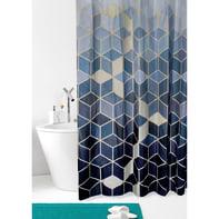Tenda doccia Mara in poliestere oro L 180 x H 200 cm