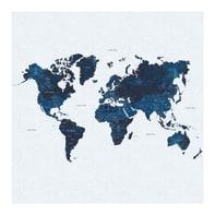 Foto murale Mappa 279x279 cm