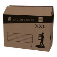 Scatola di cartone per imballare 2 onde L 80 x H 60 x P 50 cm