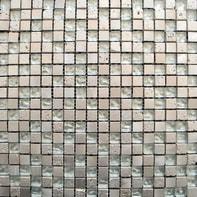 Mosaico Mix H 30 x L 30 cm grigio acciaio