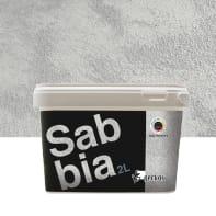 Pittura decorativa GECKOS Sabbia 2 l grigio zincato 3 effetto sabbiato