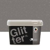 Pittura decorativa GECKOS Glitter 2 l grigio sasso 3 effetto paillette