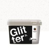 Pittura decorativa GECKOS Glitter 2 l grigio dorato 5 effetto paillette