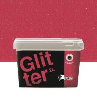 Pittura decorativa GECKOS Glitter 2 l rosso effetto paillette