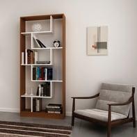 Libreria Riga 6 ripiani L 80 x P 22.2 x H 180.8 cm bianco