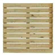 Piastrella in legno pino 100 x 100 cm  Sp 38 mm,  marrone