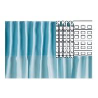 Nastro fettuccia per tenda incolore e trasparente 7 cm x 3.6 m, 5 pezzi