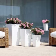 Vaso Piza ARTEVASI in polipropilene colore bianco H 61 cm, L 33 x P 33 cm