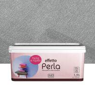 Pittura ad effetto decorativo Perla 1.5 l grgio zinco madreperla