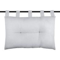 Cuscino Testata letto Berlin grigio perla 70x45 cm