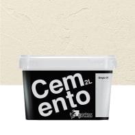 Pittura decorativa GECKOS Cemento 2 l grigio 1 effetto cemento