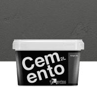Pittura decorativa GECKOS Cemento 2 l grigio 5 effetto cemento