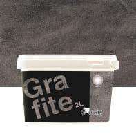 Pittura decorativa GECKOS Metalli 2 l grigio grafite effetto cemento