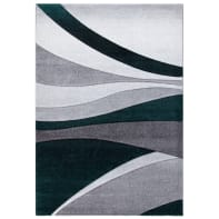 Tappeto Opera square Wave grigio e grigio chiaro e grigio medio e grigio scuro 60x120 cm
