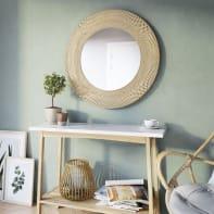 Specchio a parete tondo Utaka naturale 55 cm INSPIRE