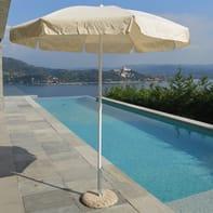 Ombrellone NATERIAL Venezia L 1.85 x P 1.85 m color ecru