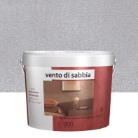 Pittura decorativa RMD DECORAZIONE Vento di sabbia 3 l grigio silver effetto sabbiato