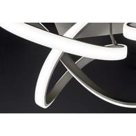 Plafoniera moderno INDIGO LED integrato grigio, in metallo, 95 cm, 2  luci WOFI