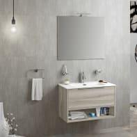 Mobile bagno Atene marrone L 80 cm