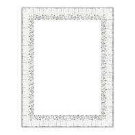 Cornice Dalia bianco per foto da 21x29.7 (A4) cm