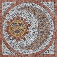 Rosone Sole/Luna H 66 x L 66 cm multicolore