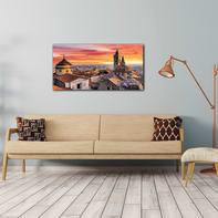 Quadro su tela Bergamo Basilica 120x60 cm