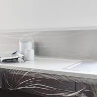 Telo di protezione con nastro occultante DEXTER 25 X 1.1 m trasparente