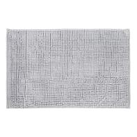 Tappeto bagno rettangolare Easy in poliestere grigio 60 x 40 cm