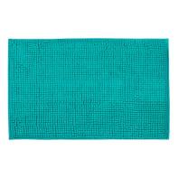 Tappeto bagno rettangolare Easy in ciniglia blu 60 x 40 cm