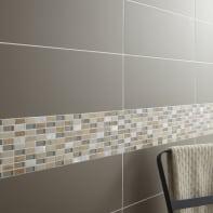 Mosaico Fusion Jonc H 30 x L 30 cm bianco
