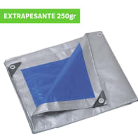 Telo protettivo in polietilene occhiellato L 5 m x H 500 cm 250 g/m²