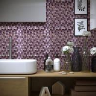 Mosaico Mix Purple H 30 x L 30 cm viola