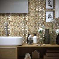 Mosaico Vertical Freedom Almond H 30 x L 30 cm beige/oro