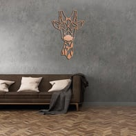 Decorazione da parete Metal Cuore Rame 51x34 cm