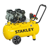 Compressore silenziato STANLEY SILTEK DUPLEX 50 , 2.5 hp, 8 bar, 50 L