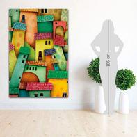 Quadro su tela L Città Multicolour 100x150 cm