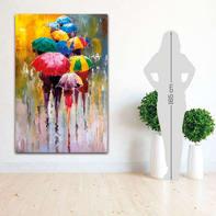 Quadro su tela L Pioggia Multicolour 98x150 cm