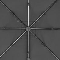 Ombrellone NATERIAL L 2.88 x P 2.88 m color grigio