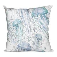 Cuscino Samarcanda bianco e azzurro 70x70 cm