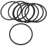 Anello in metallo nero , 8 pezzi