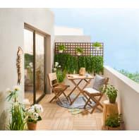 Set tavolo e sedie NATERIAL in acacia marrone 2 posti