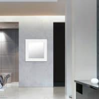 Specchio a parete quadrato Wally bianco 72x72 cm