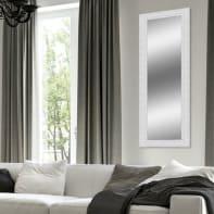 Specchio a parete rettangolare Teresa bianco 58x143 cm