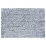 Tappeto bagno rettangolare Essential granit in cotone grey 60 x 40 cm