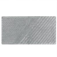 Tappeto bagno rettangolare Remix granit in cotone grigio 120 x 60 cm
