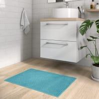 Tappeto bagno rettangolare Jacquar in 100% cotone verde 76 x 53 cm