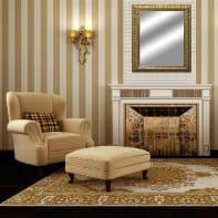 Specchio a parete rettangolare Barocco oro 86x116 cm