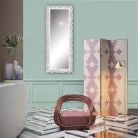 Specchio a parete rettangolare Atena bianco 60x170 cm
