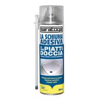 Schiuma poliuretanica SARATOGA La Schiuma Adesiva Piatti Doccia bianco 500 ml ml