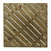 Piastrella Diagonale in legno pino 100 x 100 cm  Sp 38 mm,  marrone